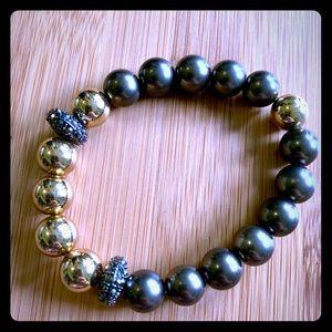 Stella & Dot Gold and silver bracelet